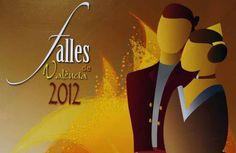 Cartel de anuncio de la Fallas, fiesta típica Valenciana.