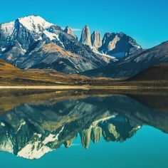 The view of these mountains alone is epic enough, but when the winds calm down (they rarely do) this lagoon becomes a perfect mirror.  It seems like a  painting seeing it twice - but I assure you it's as real as it get's.  #timshootslandscapes #patagonia #roadtrip
