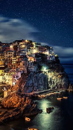 The beautyfull Cinque Terre by moonlight