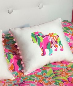 Attrayant New English Bulldog Pillow Made With New Lilly Pulitzer Fabrics, Your  Choice Of Over 30 Prints
