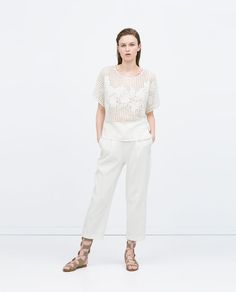 ZARA - NEW THIS WEEK - EMBROIDERED T-SHIRT