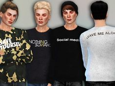 The Sims Resource: Save Yourself Sweaters by Simlark • Sims 4 Downloads