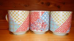 Vintage 60's floral and starburst cups  Set of by KittyHawVintage, $14.00