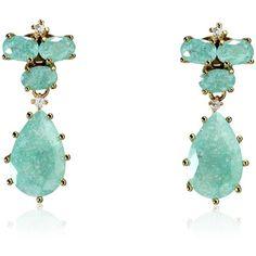 Cielle London - Pastel Stone Teardrop Earrings Sky Blue ($56) ❤ liked on Polyvore featuring jewelry, earrings, stone jewelry, stone stud earrings, sparkly drop earrings, stone drop earrings and imitation jewellery