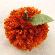 Make Pom Pom Pumpkins - Dollar Store Crafts Autumn Crafts, Thanksgiving Crafts, Thanksgiving Decorations, Holiday Crafts, Thanksgiving Table, Diy Autumn, Fall Table, Holiday Decorations, Seasonal Decor