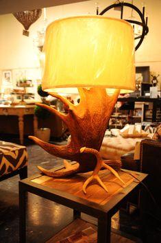 Table Lamp Moose Antler Lamp Rustic Lamp by BreedloveDesigns, $600.00
