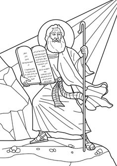 moses receives the ten commandments coloring pages coloring pages