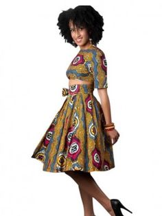 Amara Wrap & Go skirt with crop top ~ African Style