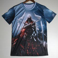 2015 3D Kurzarm T-Shirt Assassins Creed, Gr. XXXL, Neu, New