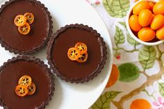 Chocolate Kumquat Tartlets