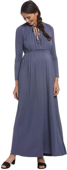 Maternity Navy Blue Flute Sleeve Empire Skater Dress Mum to be Made in the UK