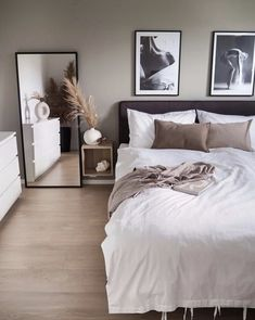 home decor apartment Small Room Bedroom, Room Ideas Bedroom, Home Decor Bedroom, Living Room Decor, Bedroom Ideas For Small Rooms For Adults, Ikea Bedroom Design, Small Modern Bedroom, Dark Wood Bedroom, Bedroom Simple