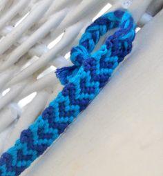 Blue Heart Friendship Bracelet by ClamBoneBracelets on Etsy, $4.00
