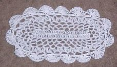 Oval Thread Doily Thread Crochet Pattern - Free Crochet Pattern - I'm making this into an area rug!!