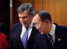 Brown Meets With Ban Ki-Moon At UN