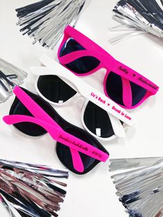 bachelorette sunglasses, sunglasses bachelorette, bachelorette favors  These pink personalized bachelorette sunglass favors are the perfect