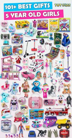 Browse our Gift Guide featuring 300+ Best Toys and Gifts For Girls. Discover educational toys, unique kids gifts, kids games, kids books, and more for your 5 year old girl. Make her Birthday or Christmas extra magical with these delightful picks she'll love! #giftguide #birthdaygifts #christmasgifts #giftideasforkids