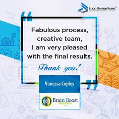 Our client endorsements always persuade us to give our best. Here is another client endorsement, recently sent by Vanessa Copley from Brain Boost Nootropics. #LogoDesign #Logos #BusinessLogos #StartUps #Entrepreneur