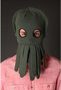 Sea Creature Ski Mask -- i bet this would get you skiing, @Ryan Healey.