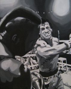 Rocky by Andrew Place Rocky Balboa 2006, Rocky 1976, Rocky 3, Pulp Fiction, Rocky Film, Silvester Stallone, Film Serie, Good Movies, Comic Art