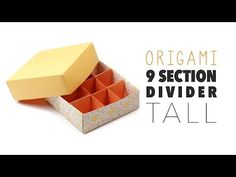 Origami 9 Section Box Divider - TALL VERSION - YouTube