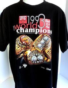 1993 #90s Salem Sportswear Chicago Bulls #NBA Championship T-Shirt 3peat Black Tee #SalemSportswear #ChicagoBulls