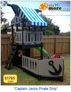 Awesome Pirate Ship Fort Cubby House http://www.4kidsnmore.com