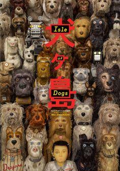 Isle of Dogs Movie Poster Wes Anderson Film Characters Print Stop Motion, Isle Of Dogs Movie, La Famille Tenenbaum, Laika Studios, Films Hd, Edward Norton, Bon Film, Best Movie Posters, Bryan Cranston