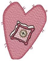 Prim Hearts Set | Valentine's Day | Machine Embroidery Designs | SWAKembroidery.com HeartStrings Embroidery