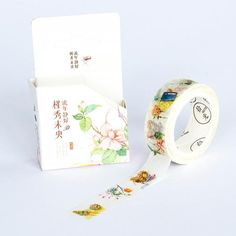 Washi Tape - Garden Flowers Deux Faces, Stationery Shop, Washi Tapes, Articles, Random, Garden, Floral, Flowers, Crafts