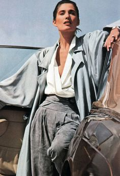 Gianfranco Ferre, American Vogue, March 1984. Photograph by Herb Ritts.