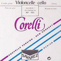 Corelli by Savarez 4/4 Cello D String - Alloy/Steel - Medium Gauge by Savarez. $13.62. Corelli cello strings wound on steel have been regularly improved over the years within the framework of continuous commitment to research by Savarez. Today, their reliability is totally confirmed and their acoustic qualities, appraised from the beginning, have been further increased. They offer a pure clear sound, without aggressiveness, easy response, and perfect balance of all ...