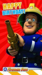 Sam le Pompier fs009General Carte d'anniversaire