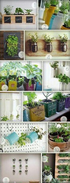Diy table top herb garden from an old pallet via make - Deco avec gobelet plastique ...