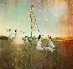 May Day vintage - we will be celebrating with May pole at Roma's school in less than 2 wks