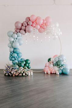 Birthday Balloon Decorations, Birthday Balloons, Baby Shower Decorations, Diy Party Decorations, Spongebob Birthday Party, Baby Birthday, Birthday Parties, Celestial Wedding, Balloon Garland