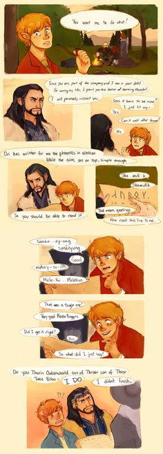 http://seadeepspaceontheside.tumblr.com/post/80644141126/pm-if-you-want-to-know-what-nori-says-to-dwalin Hahaha that was kind of unexpected