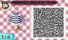Pull marinière et chemise (QR code)