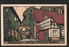 Steindruck-AK-Stralsund-Hof-des-Johannis-Klosters-mit-Torboegen.jpg (588×402)