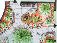An example of a typical garden design layout