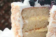 Macadamia Cake with Lemon Cream Filling