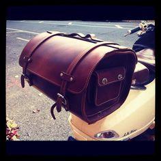 Another pinner mxs: Noah writes: I always enjoy seeing this saddle bag during my morning walk. Its basically public art.
