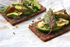 Avocado, Lemon + Broccolini Pumpernickel Toasties by Finger, Fork & Knife