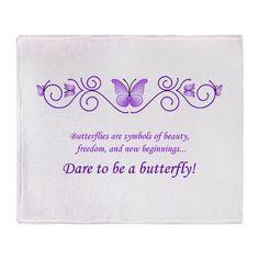 Butterfly Challenge-Purple Throw Blanket on CafePress.com