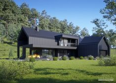 Industrial Farmhouse Design Tips and Guide Modern Barn House, Modern House Design, Modern Farmhouse Exterior, Farmhouse Design, Industrial Farmhouse, Black House Exterior, Shed Homes, Metal Homes, Future House