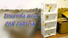 Tutorial mueble estantería hecha de cartón, manualidades baratas con reciclaje   Aprender manualidades es facilisimo.com