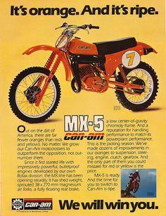 Vintage Can-Am MX-5 Dirt Bike. It's Orange. And It's Ripe.