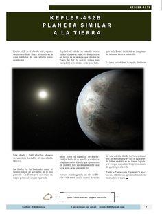 Kepler 452B es un planeta similar a la Tierra. Artículo publicado en Agosto 2105 en Revista 400 #DesarrolloSustentable #Revista400