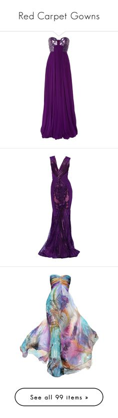 """""""Red Carpet Gowns"""" by lady-of-the-night ❤ liked on Polyvore featuring dresses, gowns, vestidos, long dresses, purple evening gowns, long corset, purple corset, corset bustier, long evening gowns and purple"""
