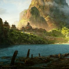 30+ Great environments concept art and illustrations